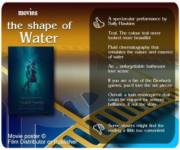 The Shape of Water movie review.