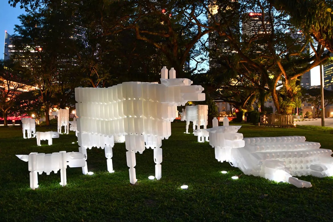 Esplanade Park Singapore Light Art Installation Display