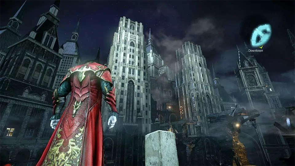 Castlevania City downtown district Screenshot.