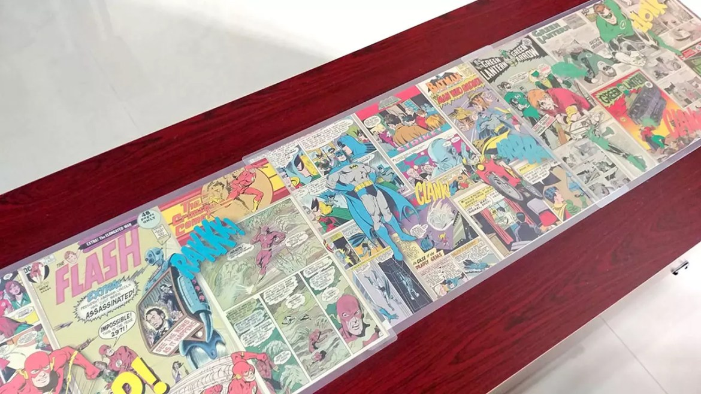 DC Comics Themed Coffee Table.