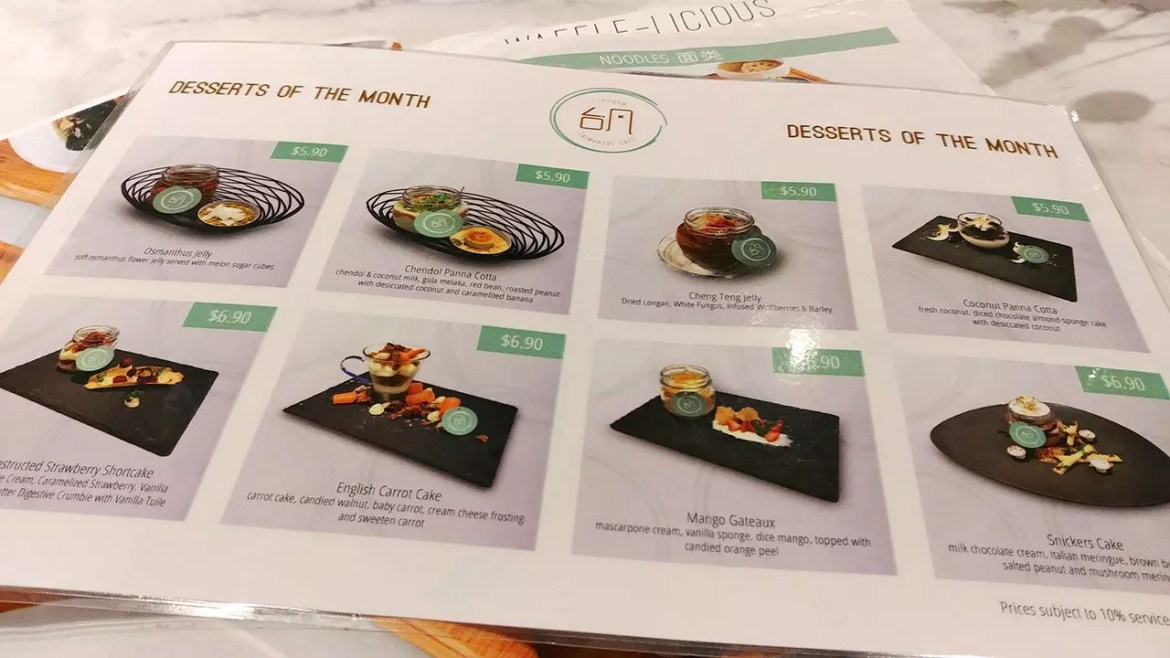 Typhoon Café Desserts of the Month Promotion