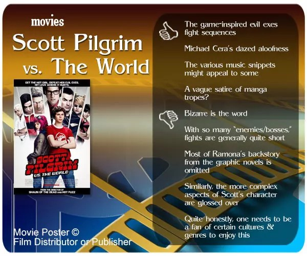 Scott Pilgrim vs. The World review - 4 thumbs up and 5 thumbs down.