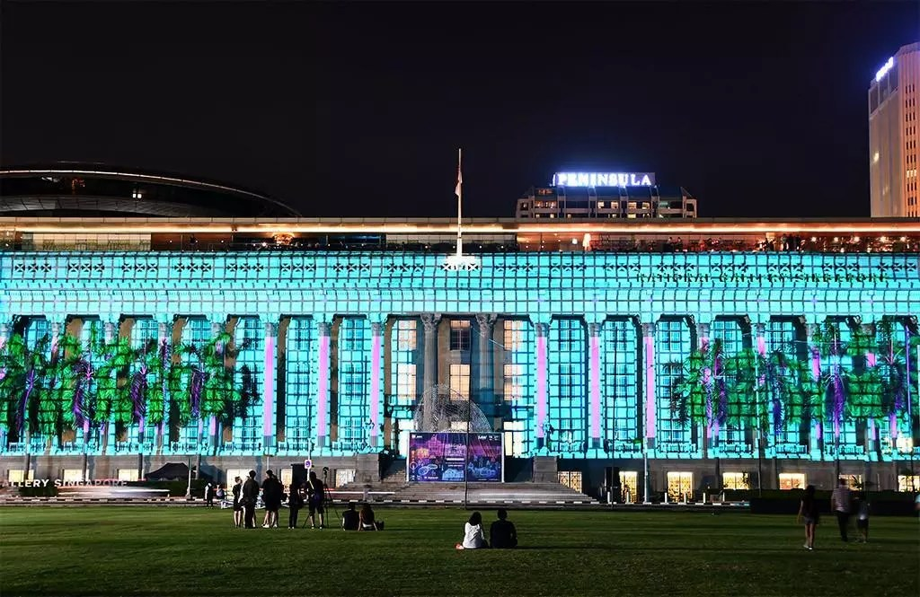 Light to Night Festival 2019 | Light Projection at NGS City Hall Wing