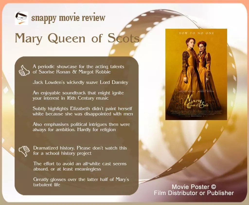 Mary Queen of Scots Review: 5 thumbs-up and 3 thumbs-down.
