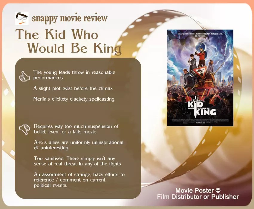 The Kid Who Would Be King Review: 3 thumbs-up and 4 thumbs-down.