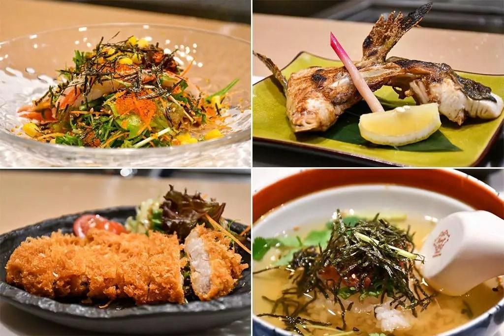 Shinzo Japanese Cuisine Ala Carte Dishes.