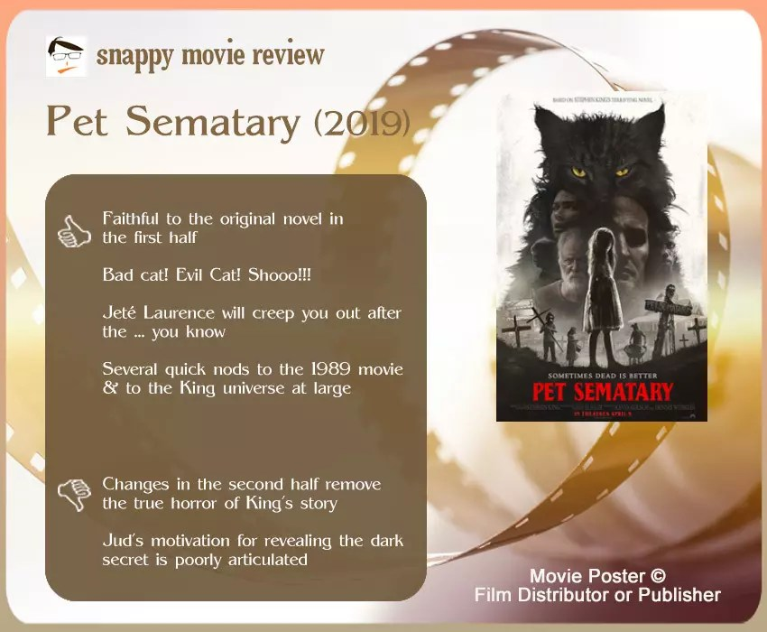 Pet Sematary 2019 Review: 4 thumbs-up and 2 thumbs-down