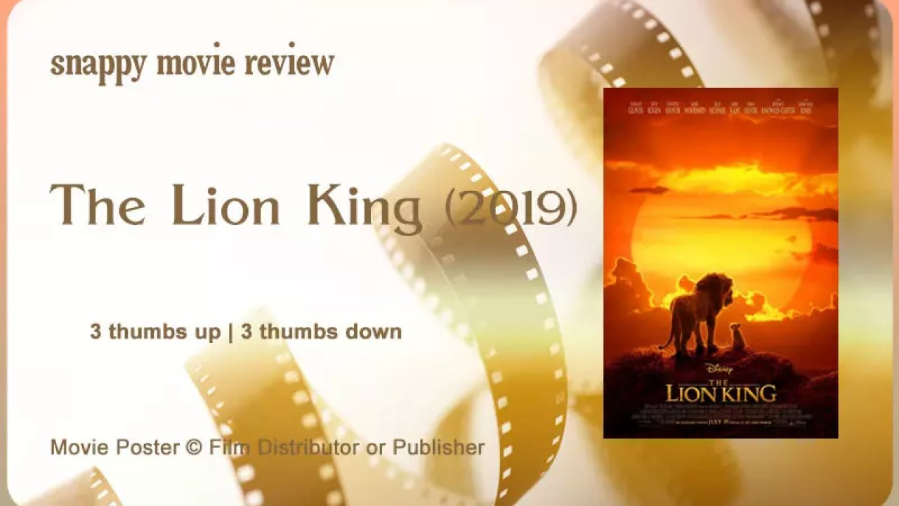 Movie Review The Lion King 2019 The Scribbling Geek