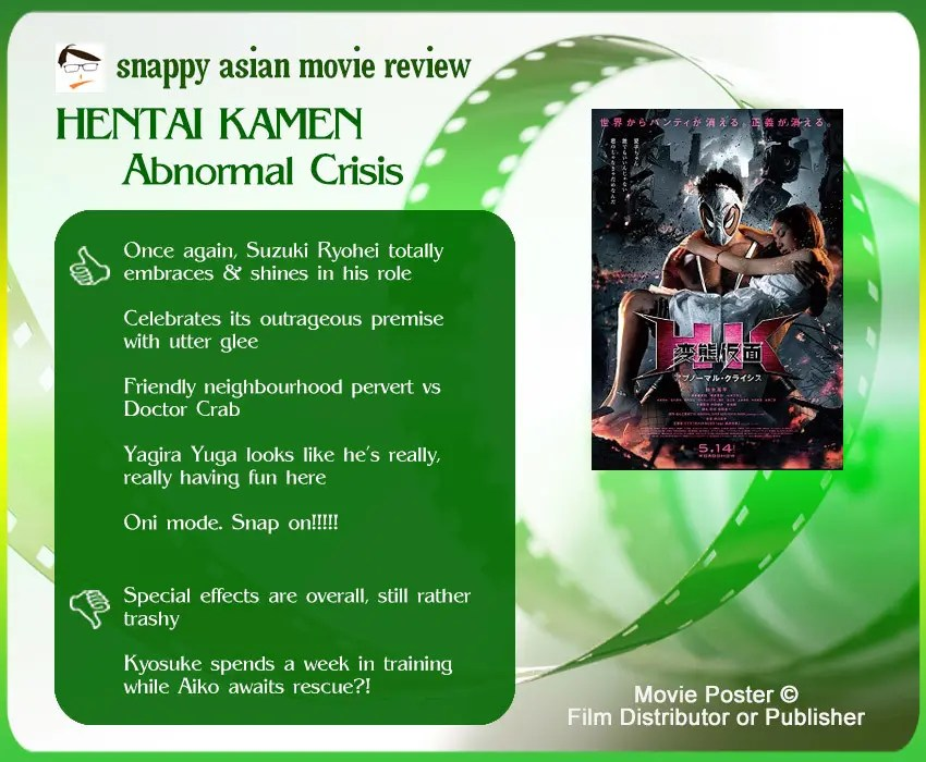 Hentai Kamen: Abnormal Crisis Review: 5 thumbs-up and 2 thumbs-down