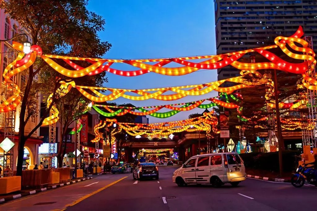 New Bridge Road during Mid Autumn Festival 2019.