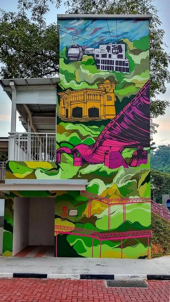 Mural near Radin Mas Community Club