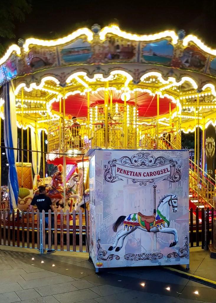 Great Christmas Village 2019 Venetian Carousel.