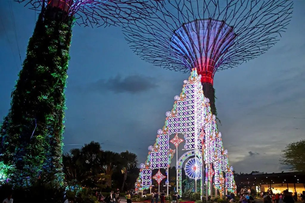 Christmas Wonderland 2019 at Singapore's Gardens by the Bay.
