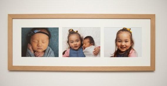 Newborn and Big Sister Sibling Family Photo