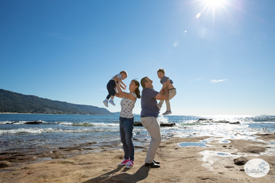 Family Photoshoot at the Beach
