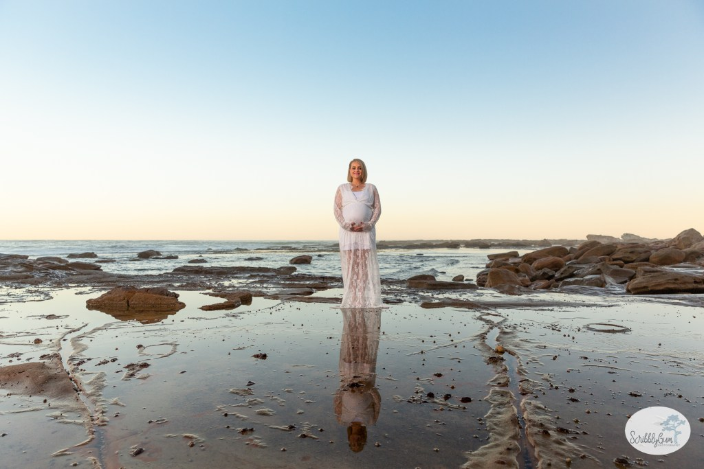 Beach Maternity Photoshoot Rocks Outdoor Pregnancy Maternity Photographer