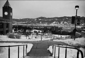 """""""These mountain views from school are on point #coloradosprings #pikespeak #uccs #campus #purplemountains #snowtoppedmountains"""" @madisonleigh32"""