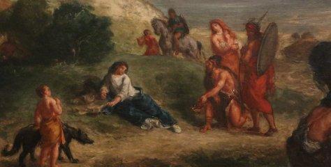 «Ovide chez les Scythes» par Eugène Delacroix