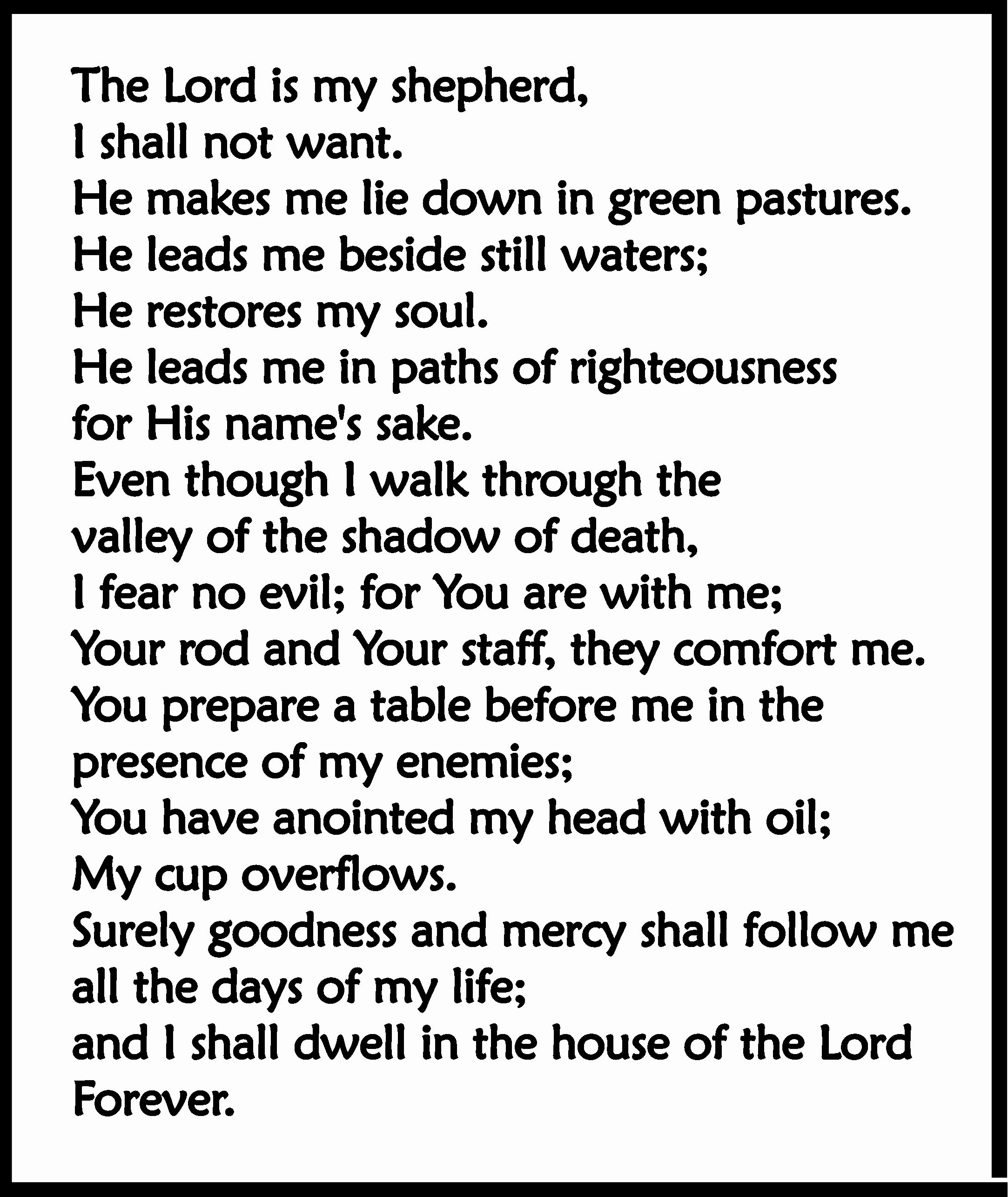 Psalm 23 Reloaded