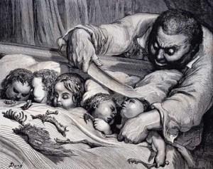 l'Ogre ; Gustave Doré, illustrations pour le Petit Poucet