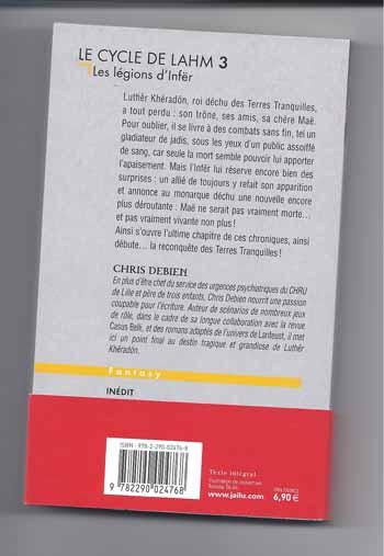 Le Cycle de Lahm 3 - Les légions d'Infër - Chris Debien