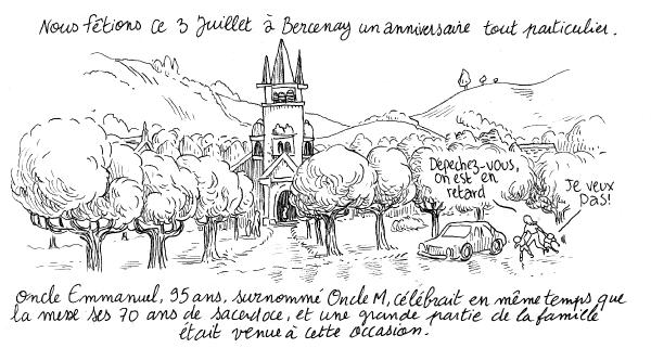 """La premiere case de """"Cigish et le sacrilège"""""""