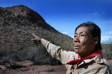 Chapito, un shaman de l'ethnie Seri de Punta Chueca