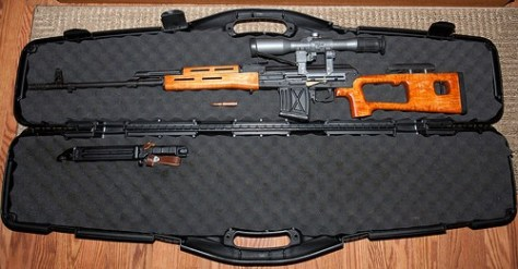 Un fusil Dragunov SVD