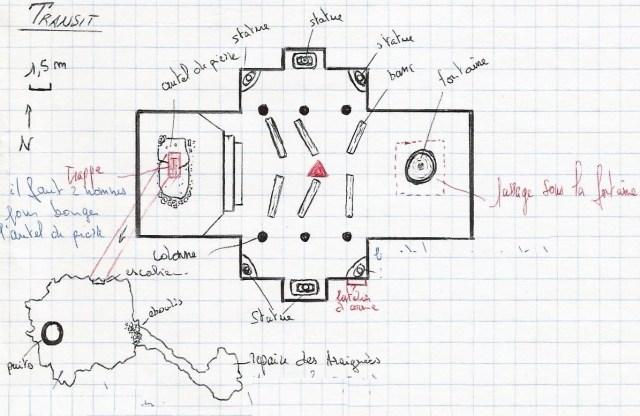 """Une carte pour jeu de rôle MeGa 2 - Scenario """"Le Livre Maléfique"""" - 1988"""