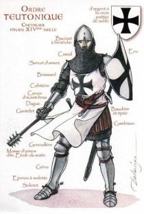 Un chevalier Teutonique (avec une masse et une épée)