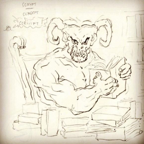Le dessin de Joël Cimarron : la naissance de Scriiipt