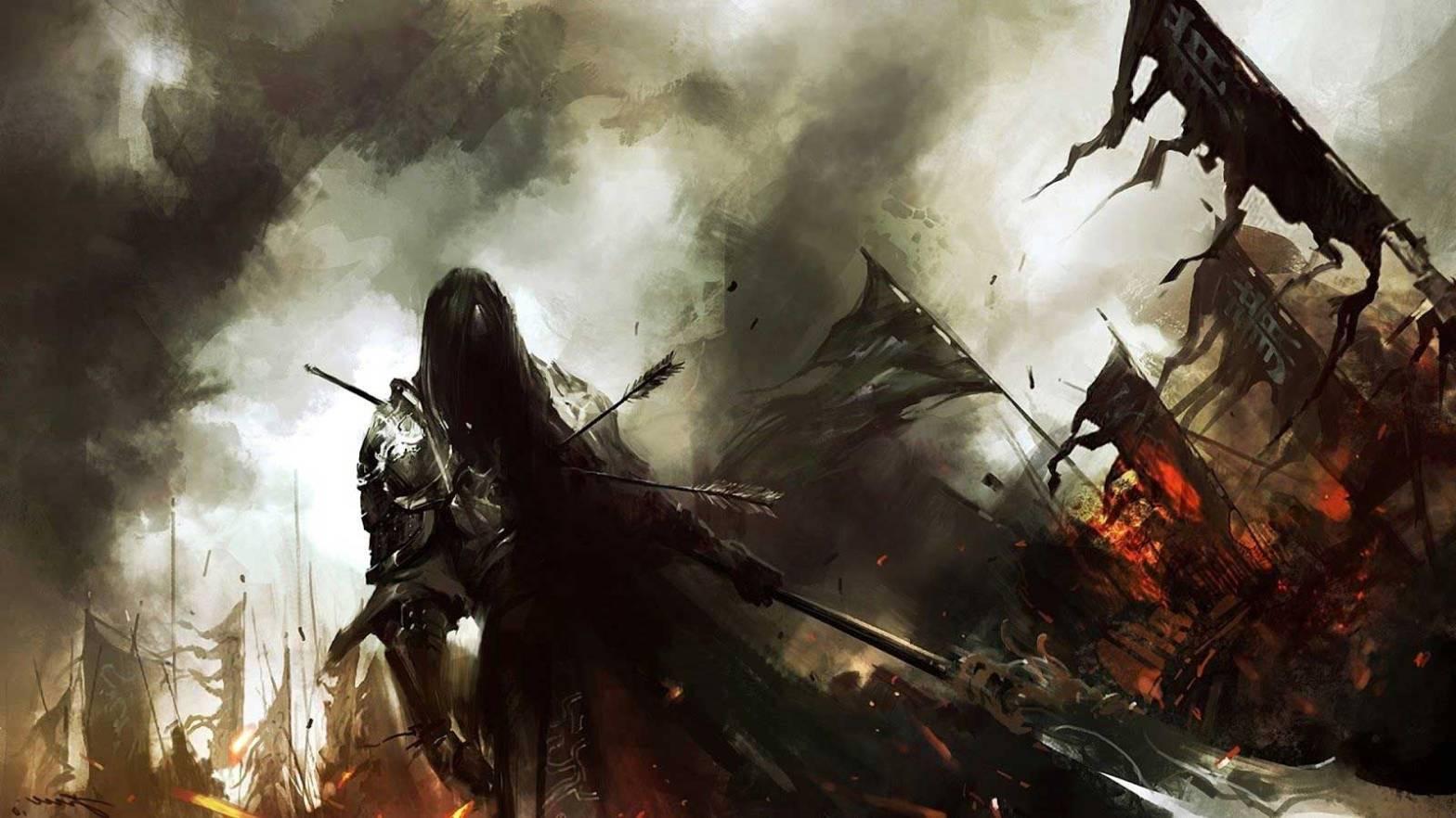 Bataille épique de monde de fantasy