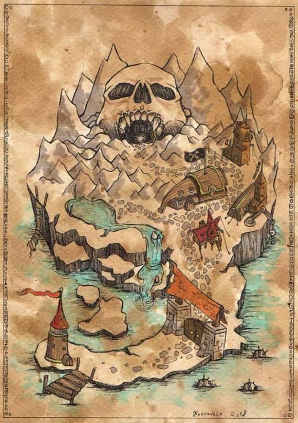 Un carte au trésor par Kokorvesa