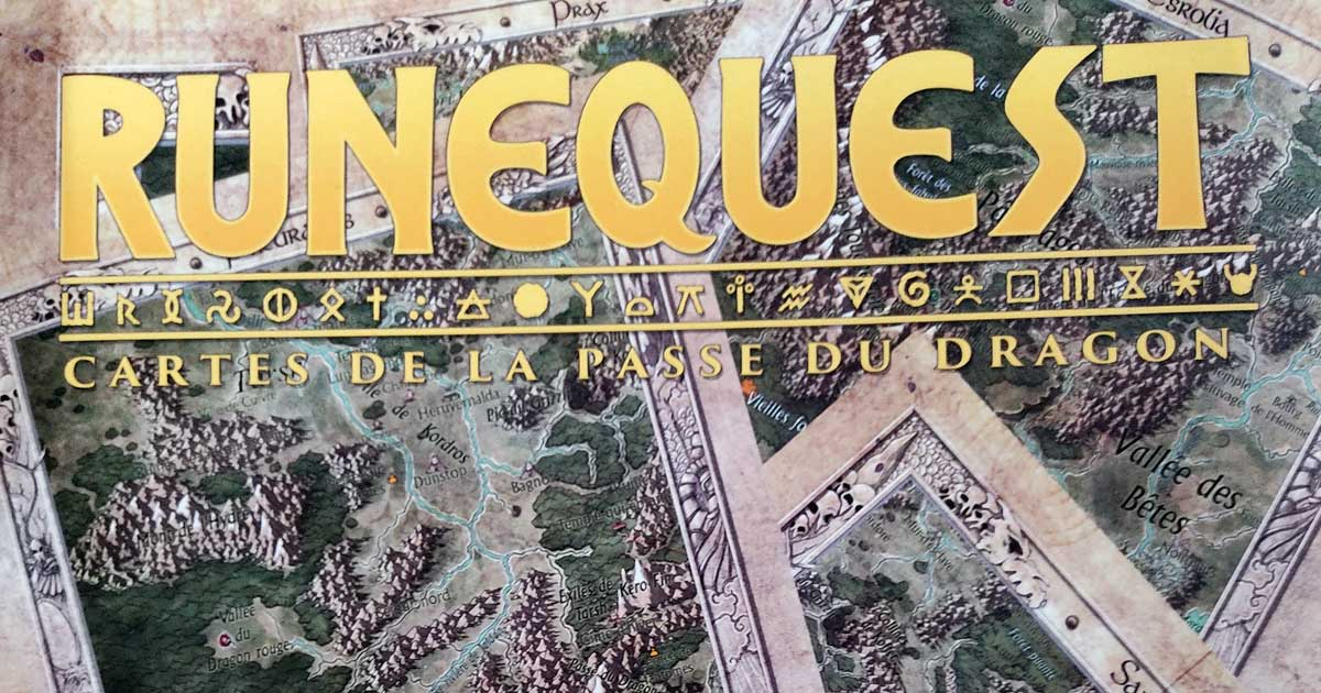 Runequest Cartes de la passe du dragon