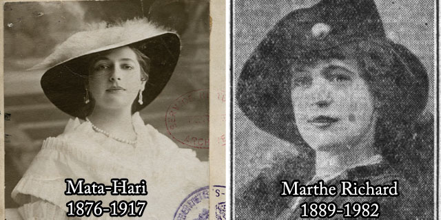 Mata Hari et Marthe Richard