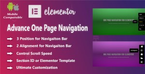 Advanced One Page Navigation for Elementor