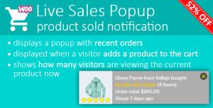 Direct Sales Popup: produit vendu notification