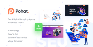 Pohat - SEO & Digital Marketing Agency WordPress Theme