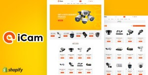 iCam | CCTV Sectioned Shopify Theme