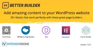 Better Builder-Addon pour les constructeurs de page WordPress