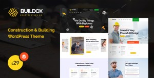 Buildox - Construction and Building WordPress Theme