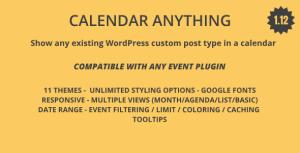 Calendrier anyting   Afficher n'importe quel type de poste personnalisé WordPress existant dans un calendrier