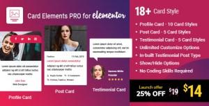 Carte Elements Pro pour Elementor