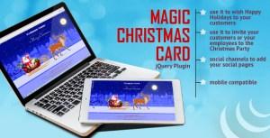 Carte de Noël magique avec animation