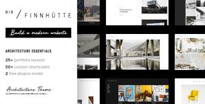 Die Finnhütte - Modern Architecture and Interior Design Theme