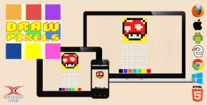 Draw Pixels - HTML5 Drawing Game