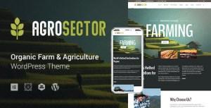 Elementor Agriculture & Organic Food WordPress Theme - Agrosector