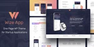Elementor One Page App Landing WordPress Theme - WizeApp