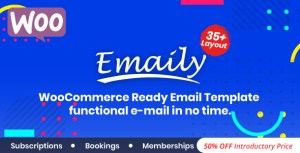 Emaily | WooCommerce Responsive Email Template + Subscriptions + Bookings + Memberships Compatible
