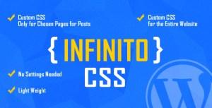 INFINITO-CSS personnalisé pour les pages choisies et les messages ou pour tout le site-WordPress plugin